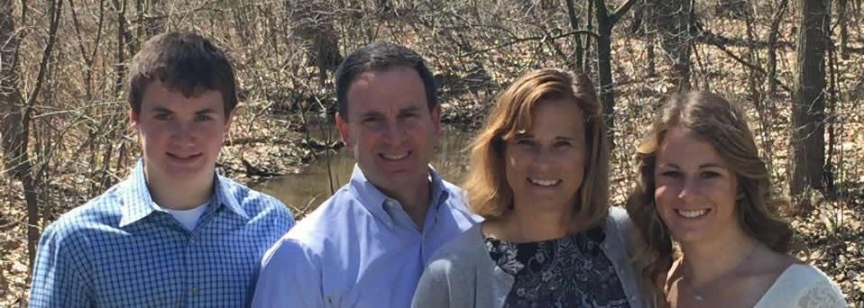 Bierman Family Photo in Woods in Door County